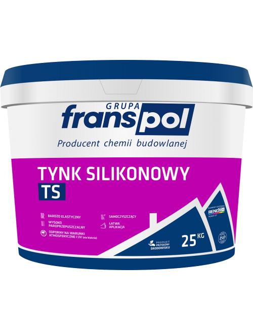 Franspol tynk silikonowy baranek TS 25kg