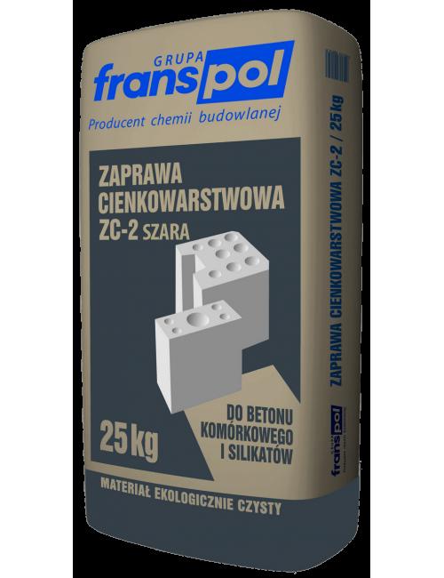 Franspol zaprawa cienkowarstwowa szara ZC-2 25kg