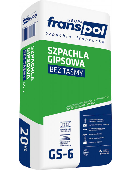 Franspol szpachla gipsowa bez taśmy GS-6