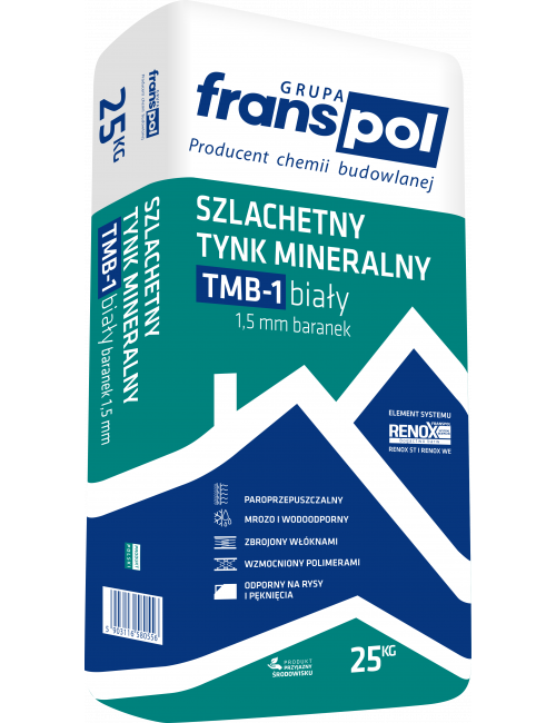 Franspol tynk mineralny baranek biały TMB-1 25kg